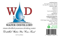 water distillery labels